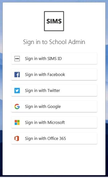 SIMS App Login Window