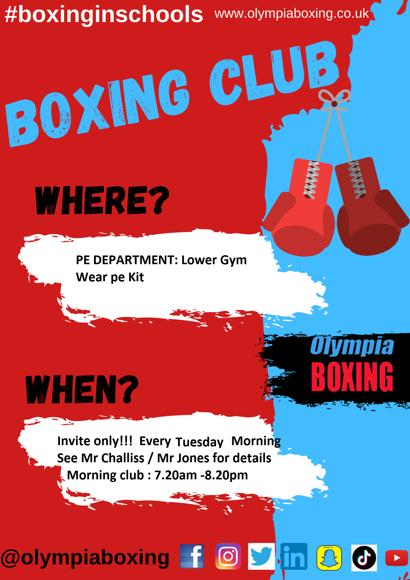 Boxing Club Flyer
